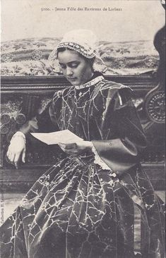 French folk-dress from Lorient, Brittany