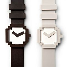 Inspired by the old-school 8-bit graphics the face of the watch is shaped like a computer icon. Add a little bit of modern nostalgia to your wardrobe with this stylish watch.