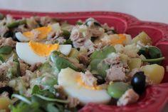 As Minhas Receitas: Salada de Atum com Batatinhas, Favas e Rucula                                                                                                                                                                                 Mais