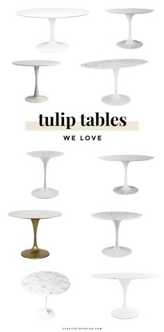 Tulip Tables for the Dining Room #tuliptables #diningroomtables