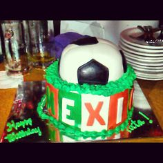 Dad's 55th birthday cake! #mexico #soccer