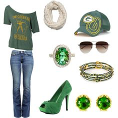 YES!  Perfect outfit for Packer football!