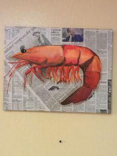 Shrimp painting # Pinterest++ for iPad #