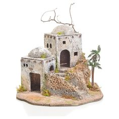 Casa árabe pesebre en resina y corcho Christmas Holidays, Christmas Decorations, Christmas Ornaments, Holiday Decor, Miniature Houses, Miniature Dolls, Tabletop, Architectural Sculpture, Christmas Nativity Scene