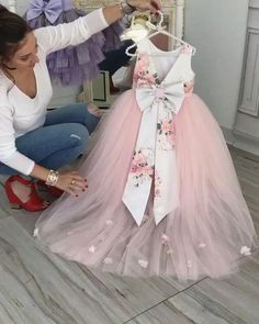 pink flower girl dresses for weddings printed flowers cheap cute baby girl dresses for birthday party pageant little girl dresses Flower Girls, Baby Girl Party Dresses, Wedding Flower Girl Dresses, Dresses Kids Girl, Girl Outfits, Pink Dresses, Baby Girl Pink Dress, Flower Girl Dresses Country, First Birthday Dresses