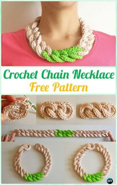 Crochet Chain Necklace Free Pattern