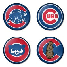 "Chicago Cubs MLB 1.75"" Badges Pinbacks, Mirror, Magnet, Bottle Opener Keychain http://www.amazon.com/gp/product/B00K4517W6"