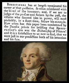 28th July 1794 - Death of Robespierre