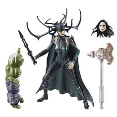 Marvel Thor Legends Series 6-inch Marvel's Hela. Movie-inspired design. Premium articulation and detailing. Ages 4 and up. Collect other Marvel Legends Series figures (each sold separately). Includes figure, accessory, and 2 Build-a-Figure pieces.