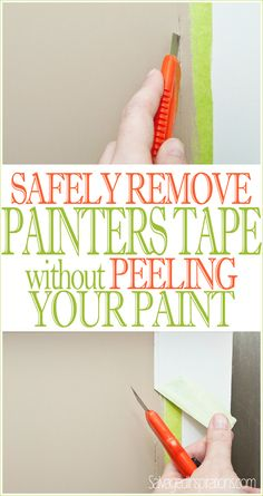Salvaged Inspirations | Quick-Tip-Tuesday | How to Remove Painters Tape without Chipping or Peeling your Paint!