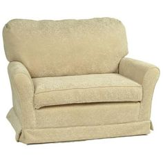 Charming Little Castle Chair And A Half Micro Suede Beige   23CH MS BEIGE
