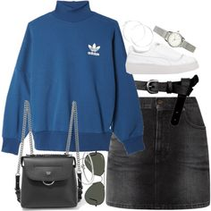 Unbenannt #1382 by flytotheunknown on Polyvore featuring polyvore, fashion, style, adidas Originals, Yves Saint Laurent, Fendi, H&M, Michael Kors, claire's and Carolina Bucci