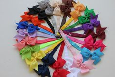 6 Bow headband - 2 dollar each - elastic headband - stretch headband - fold over elastic headband - baby headband. via Etsy