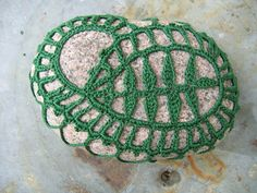 Beautiful motif for crochet stone cozy