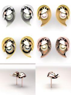 Modèle à personnaliser: Boucles d'Oreilles Folia VARIATIONS Cameleor