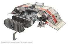 T 47 Snowspeeder cutaway