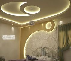 modern gypsum board design for false ceiling and wall for bedrooms 2108