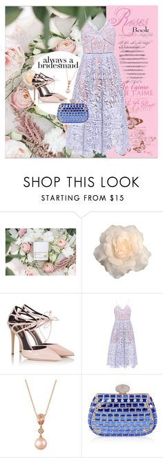 """Always a bridesmaid"" by frenchfriesblackmg ❤ liked on Polyvore featuring Fratelli Karida, self-portrait and LE VIAN"