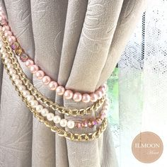 Cortina trenzada con flecos y lazos de encaje para decoraci/ón de ropa de hogar de 150 m con dise/ño de flecos beige
