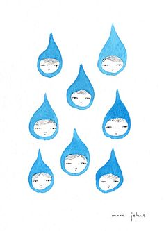 Marc Johns: we are blue raindrops