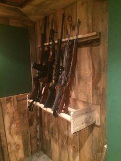 Rustic gun rack.