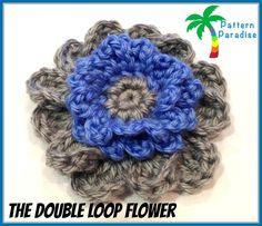 Crochet flower, free pattern, thanks!