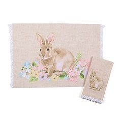 The Spring Garden Bunny Table Setting Collection is a wonderful option whether you are serving Easter dinner or want to refresh your décor. Each accent features a sweet little bunny surrounded by spring flowers for a charming addition to any table.
