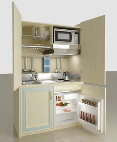 This Would Work In A Tiny Kitchen Sadly It Is Just The Picture :( Monobloc  Kitchen Mobilspazio Contract Hinged Door.