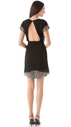 Beaded cut-out dress