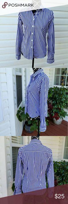 Polo Ralph Lauren Long Sleeve Button Down Fitted Cotton Polo by Ralph Lauren Tops Button Down Shirts