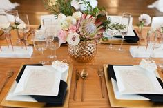 Modern Tablescape Featuring Copper |   Photography: Blue Rose Photography. Read More:  http://www.insideweddings.com/weddings/urban-chic-styled-wedding-shoot-with-unique-copper-accents/785/