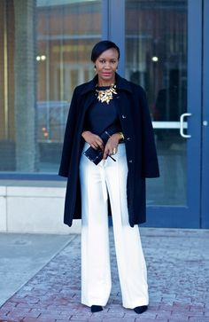 This is just ridiculously elegant.  Black-and-white-outfit