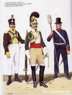 Spanish Army of the Napoleonic Wars (2) 1808-1812 1-Fusilier, Toledo Regt 1811-13 2-Field officer, Numancia Dragoon regt 1810-13 3-Gunner, Marine artillery 1810-15
