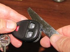 Car Key Fob Repair If your keyless entry 'fob' still doesn't work after replacing the battery, it might just be a problem with worn out contacts inside the device. Car Key Repair, Truck Repair, Engine Repair, Vehicle Repair, Nail Swag, Car Fix, Car Key Fob, Car Hacks, Car Keys