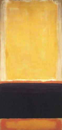 Mark Rothko | Yellow, Charcoal, Brown