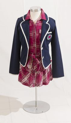 Life – The Province School Shopping, Shopping Spree, Navy Blue Blazer, White Plaid, Belted Dress, Cherokee, Preppy, Back To School, Centre