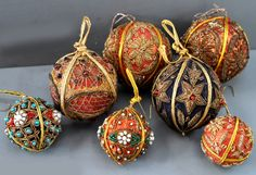Indian embroidery balls 60's collection Linda Pastorino