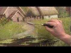 Деревенский мотив Работа по сухому Проблемы выписывания картины И Сахаров - YouTube