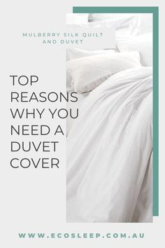 Top reasons why you need a duvet cover in your life 😍 ✔️It works like a giant pillowcase for your comforter keeping it clean. ✔️They are easy to clean ✔️They take up very little storage space ✔️It works like a giant pillowcase for your comforter keeping it clean. . Made from 100% AAA long strand Mulberry Silk, our Silk Quilts are the perfect breathable, hypoallergenic natural fibre, that allows your body to breath and will help you sleep. Linen Bedding, Comforter, Bedding Sets, Classic Bed Linen, Bedroom Colors, Bedroom Ideas, Simple Bed, Bed Linen Sets, Dust Mites