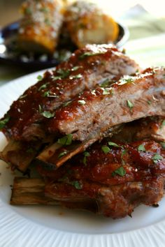 The only thing I have to say about this is that you NEED to make these ribs immediately! Fall off the bone, savory, sweet, and spicy goodness! This beautiful summer weather has my mind in one place and one place only. BBQ! I've been craving some meaty, get you messy, and delicious ribs. Easy 3 …
