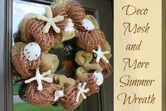 Miss Kopy Kat: Deco Mesh and More Summer Wreath