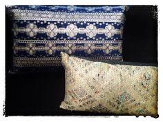 Truly unique pillows made from vintage fabrics. Amazing! casadilino deborahmaindesigns