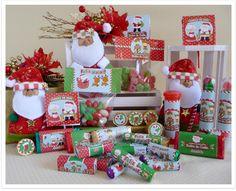 kit de guloseimas personalizadas Fábrica do Noel - para imprimir