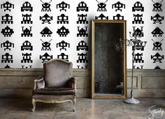 Beware - the invaders are everywhere!  #stawsky #design #murals #wallswork #tapetomat #wallpaper #wallpapers #designer #artist #spaceinvaders #retrocomputer #fashion #decorate #16bit #wall #walls #vintage #retro #computer #aliens #comingsoon #invaders #art #virtualreality #8bit #chip #home #house #interior #interiordesign