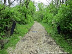 Sag Valley Trail gravel path at Cap Sauers Holdings Forest Preserve in Palos Park, Illinois