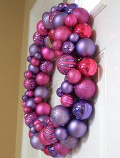 Purple & Pink Christmas Wreath ♥♥