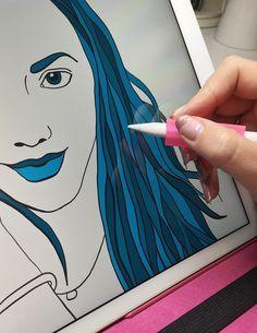Top 5 iPad Pro apps for artists and illustrators. www.brownpaperbunny.com