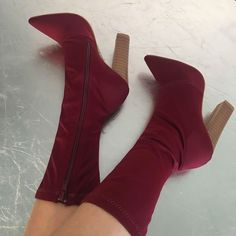 Woven Chunky Pointy Ankle Booties