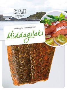 Espevær røykeris Middagslaks er ikke bare full av kvalitet og god smak. Den er i tillegg superrask å tilberede. Server med potetsalat og friske grønnsaker, og vips så er det middag. Gled deg til en varmrøykt middagslaks som er dratt opp av havet ytterst på Norges vestkyst. Den er serveringsklar og smaker slik ekte sjømat skal smake. Rett og slett nydelig. – i Espevær, Hordaland, Norway.