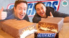 GIANT SNICKERS #myvirginkitchen Squid Ink Pasta, Youtube Cooking Channels, Giant Food, Snickers Bar, Homemade Snickers, Mini Foods, Food Videos, Cheesecake, Sweets